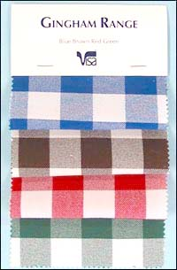 click here for larger image of Gingham check long lasting tablecloth  material.